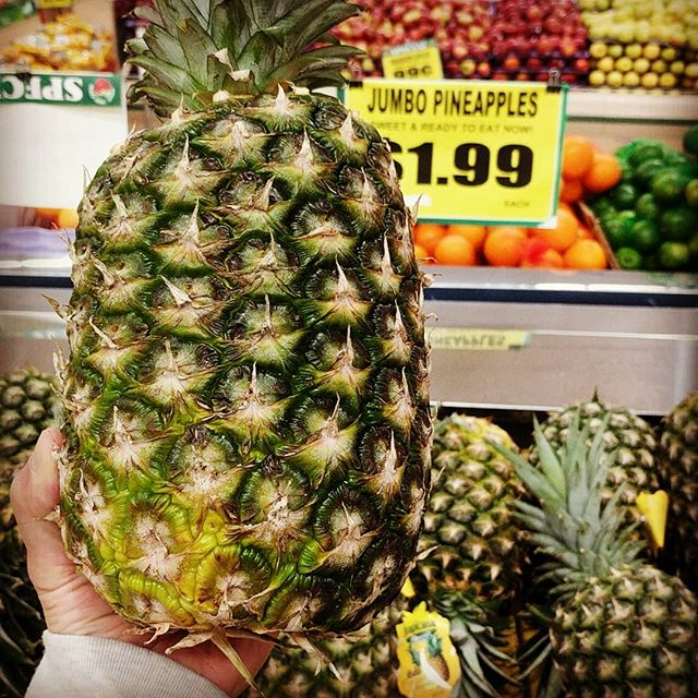 We have JUMBO pineapples that are sweet and ready to eat 🍍