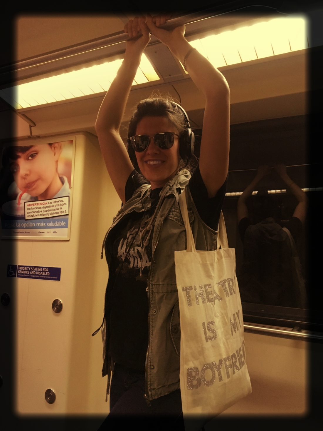 Girl on a Train. (P.S. Theatre is my boyfriend.)