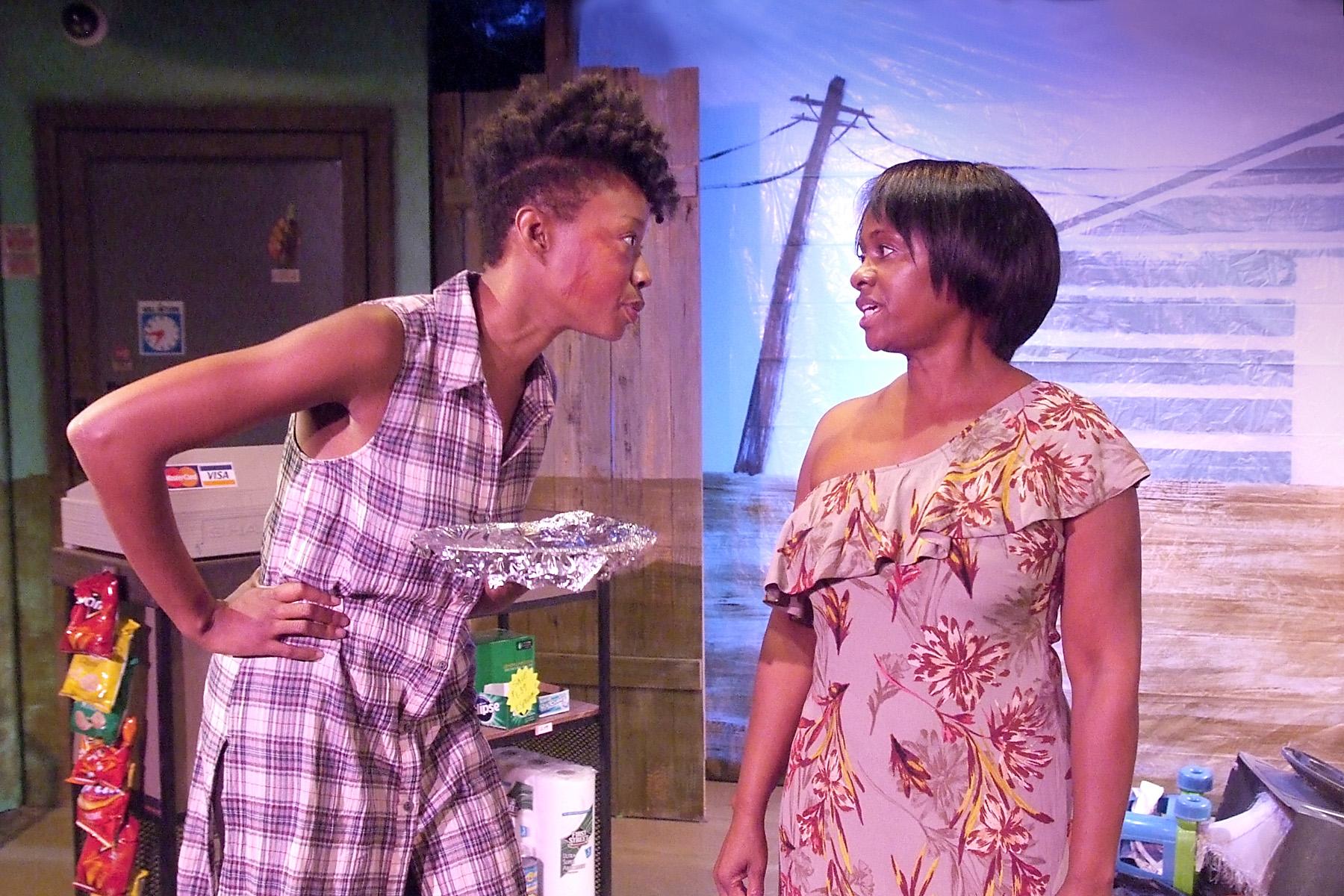 Maya Lynne Robinson as Eunice and Karen Malina White as Shana