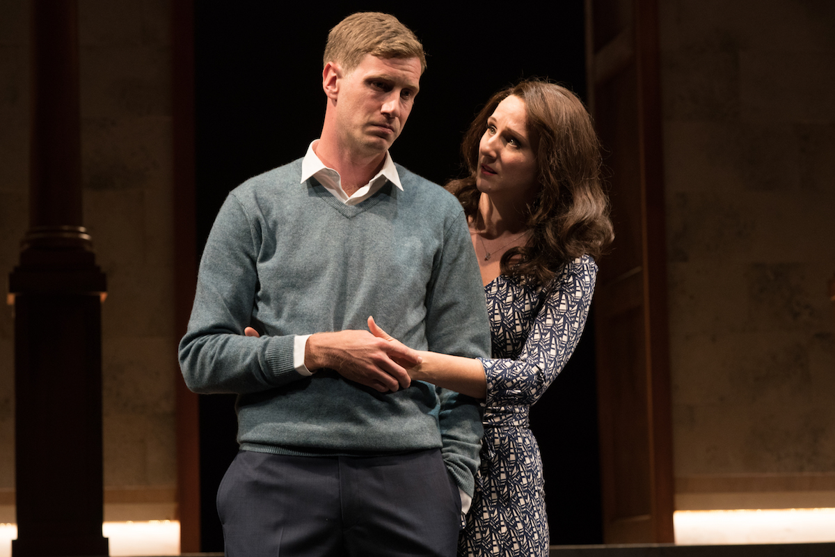 William and Kate, played by Adam Haas Hunter and Meghan Andrews.I miss Adam's beard. He says he misses it more.But that's the type of sacrifice this champion of the American theatre is willing to make for the sake of his most excellent performance.
