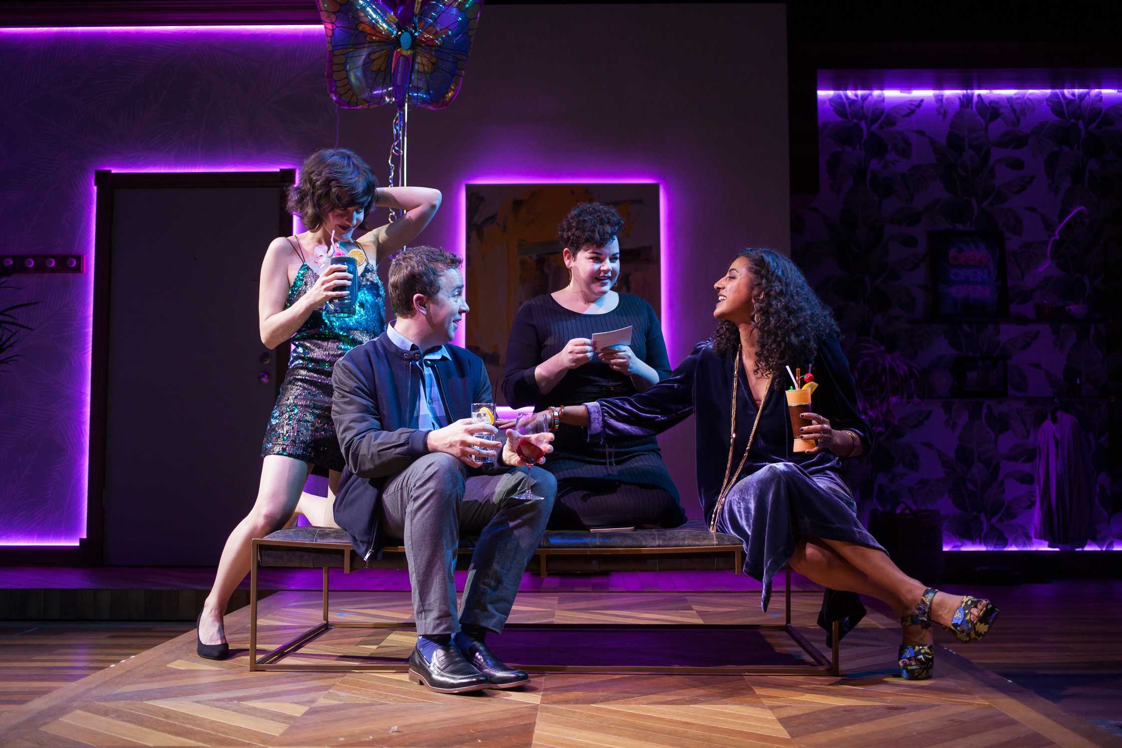 Keilly McQuail, Will Von Vogt, Melanie Field and Vella Lovell star in the Geffen Playhouse's production of Significant Other. Photo by Chris Whitaker.