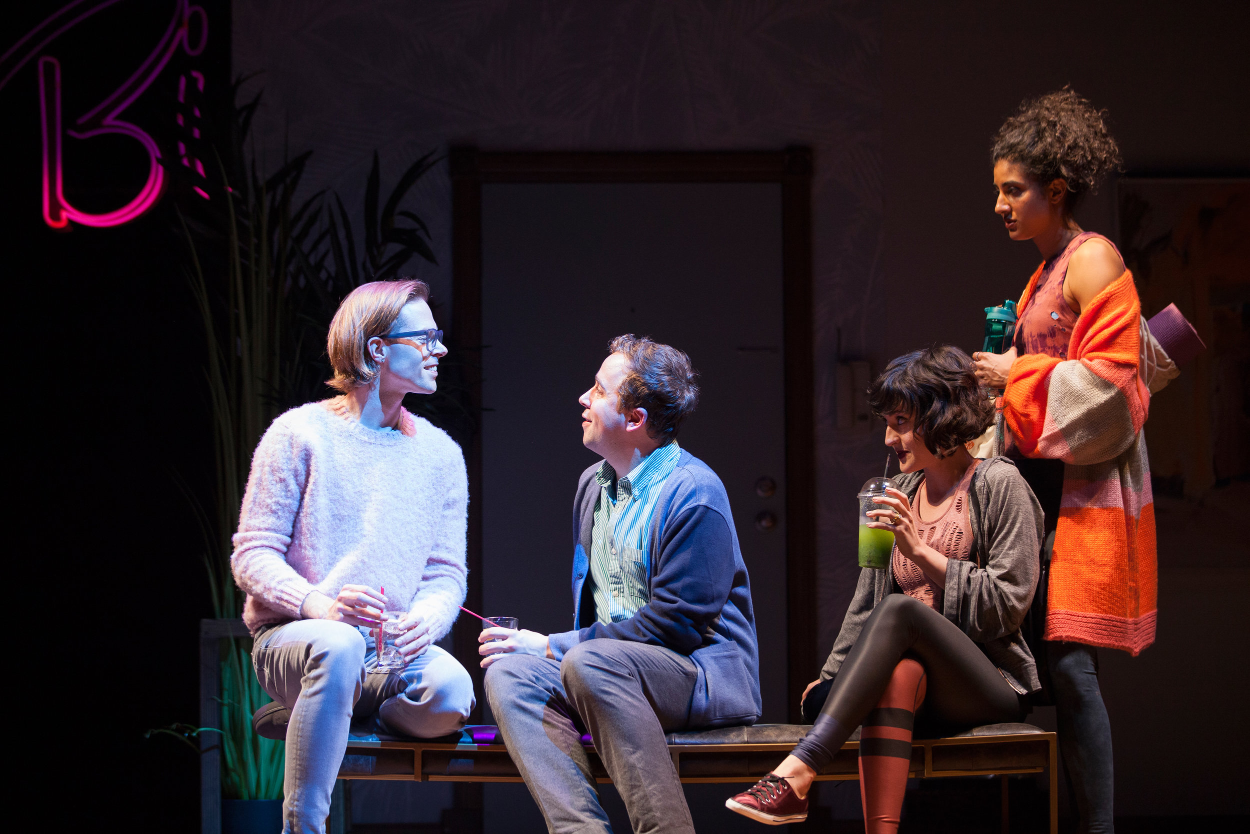 Preston Martin, Will Von Vogt, Keilly McQuail and Vella Lovell star in the Geffen Playhouse's production of Significant Other. Photo by Chris Whitaker.