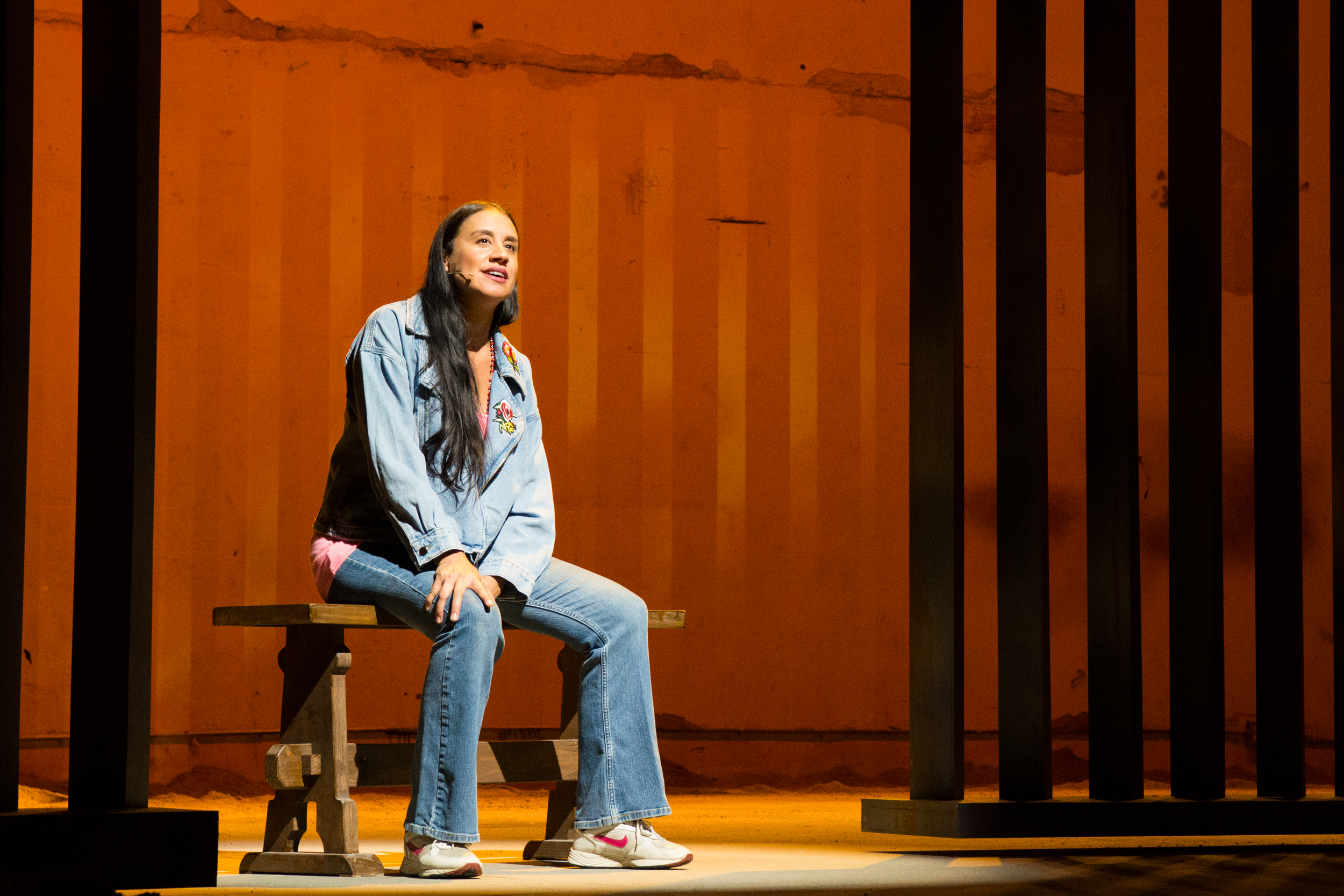 Sabina Zúñiga Varela in Bordertown Now at Pasadena Playhouse. // Photo by Philicia Endelman