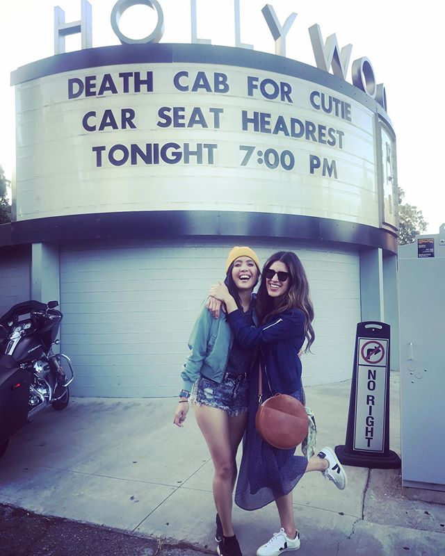 Me & @danicecabanela turning up for @gibbstack 's 43rd birthday party. His music is everything to me. Ask me about it sometime : ) #thankyoufortoday #deathcabforcutie #latheatrenerd #theatrestyle #sundayfunday #hollywoodbowl