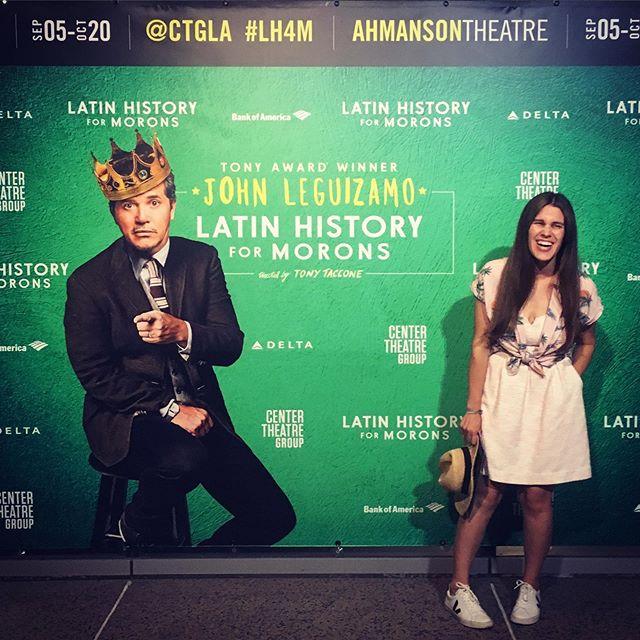 I'm a moron. #lathtr #theatrenerd #latheatrenerd #theatre #theatrestyle #onemanshow #latinhistory