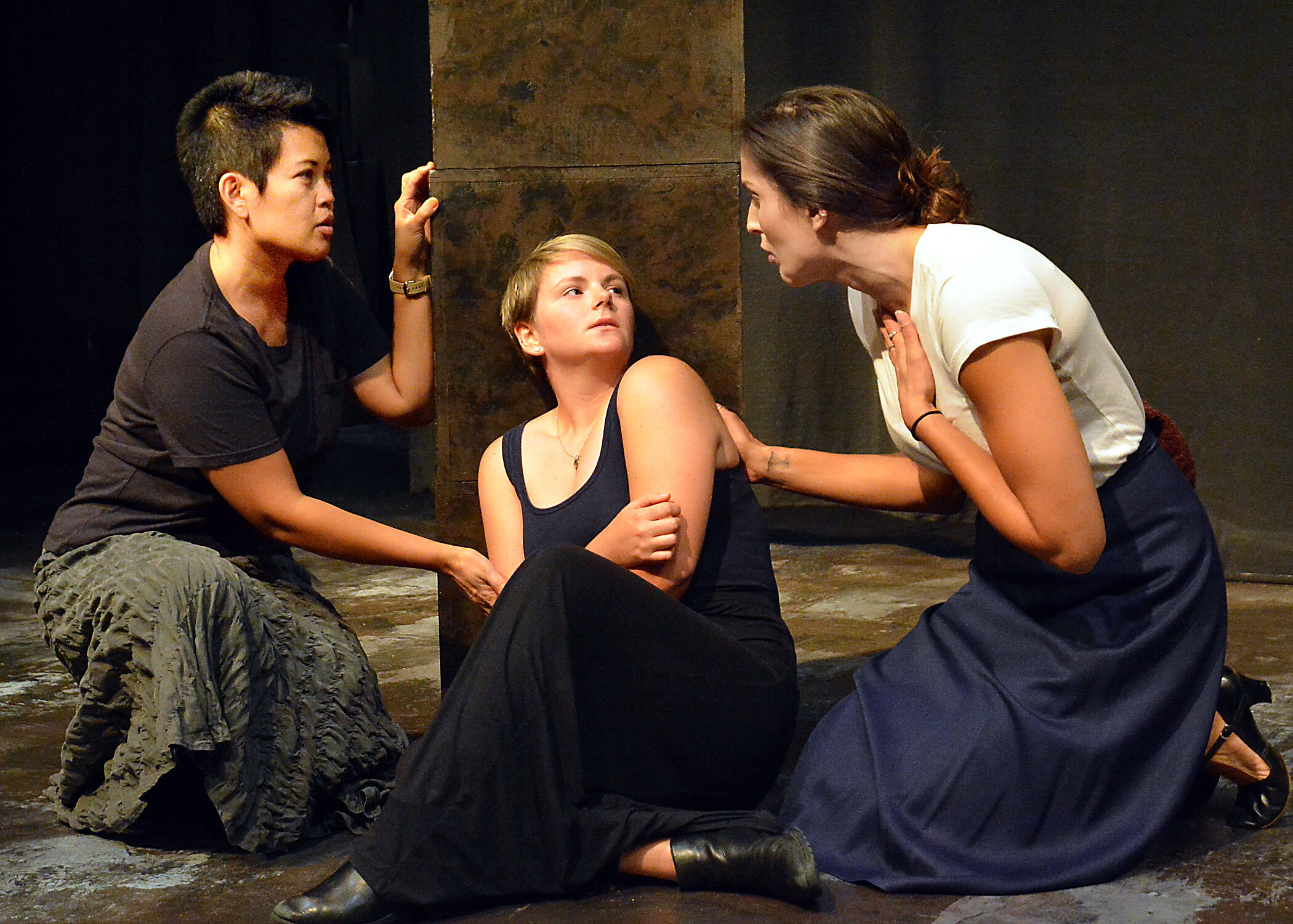 Evie Abat, Eliza Blair, Sarah Tubert, photo by Ed Krieger