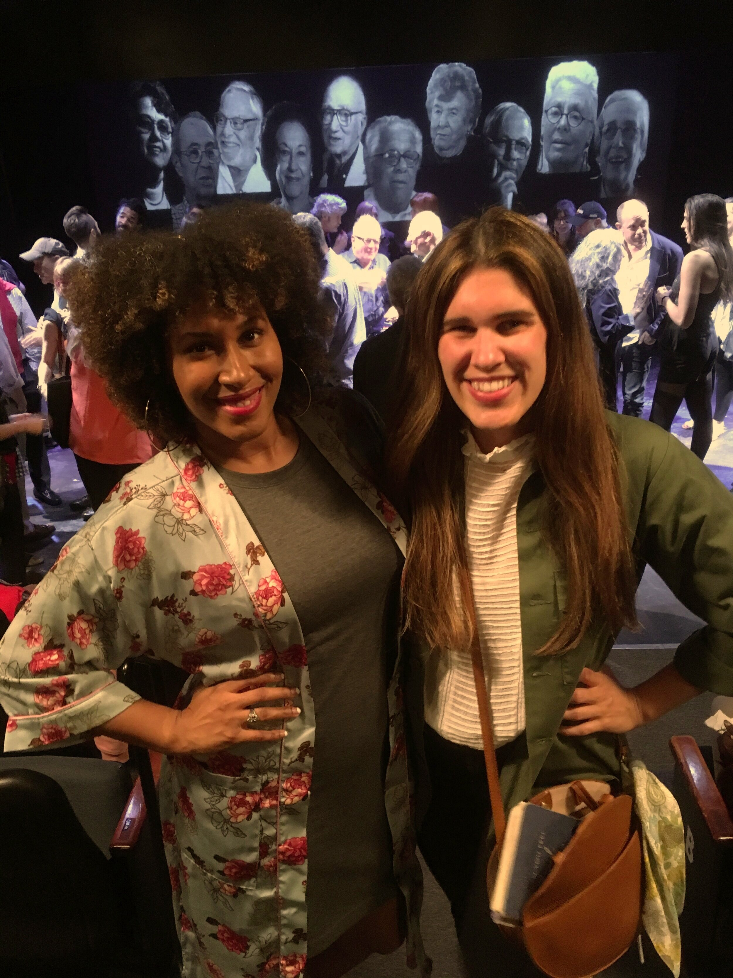 Me and powerhouse theatre artist, making her professional directing debut, Celia Mandela!