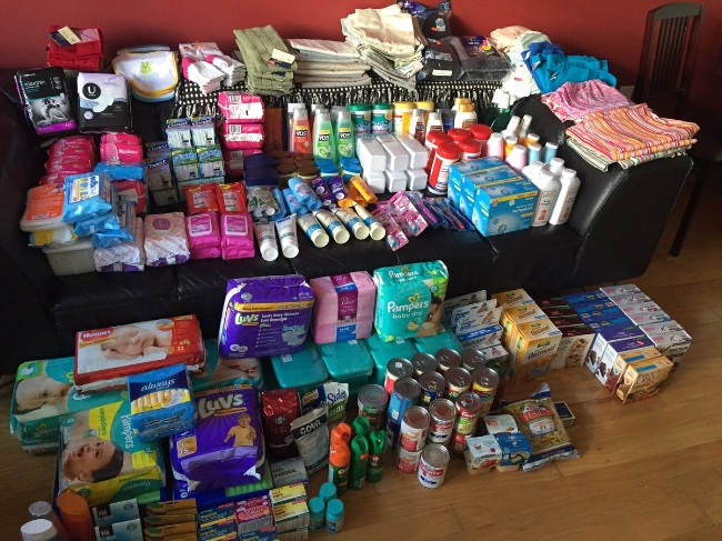 supplies sent to hurricane victims in Puerto Rico by AHUS