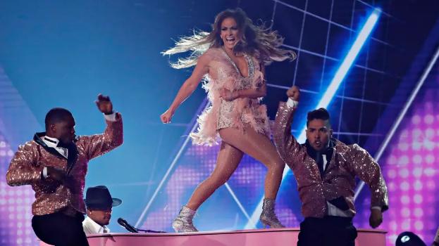 Madame Lopez livin' la vida loca during her Motown tribute at the 2019 Grammys (Reuters)