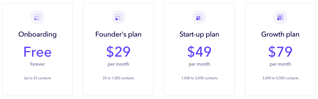 Outseta's pricing May-June 2019