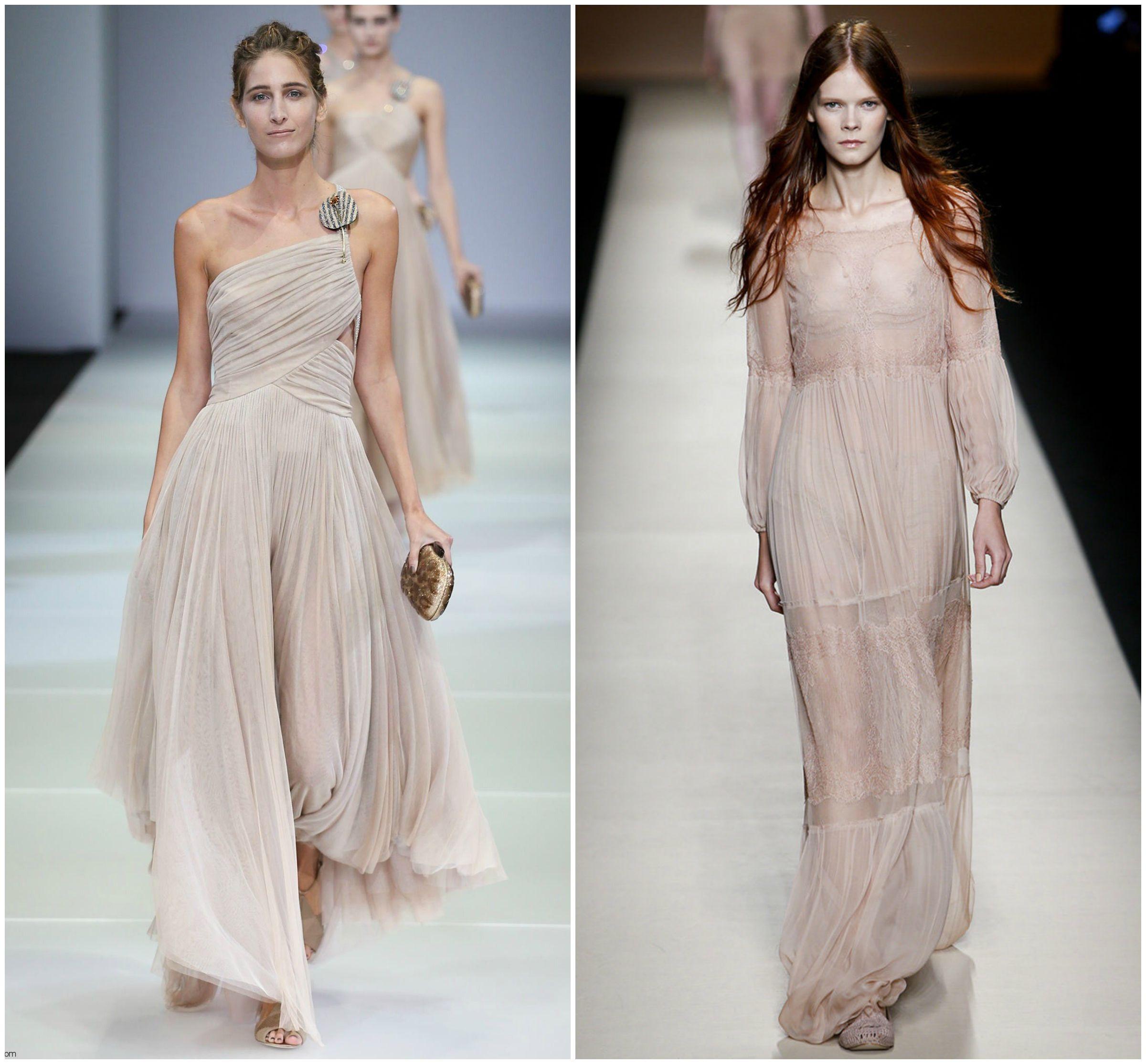 romantic lace airy blush dress runway