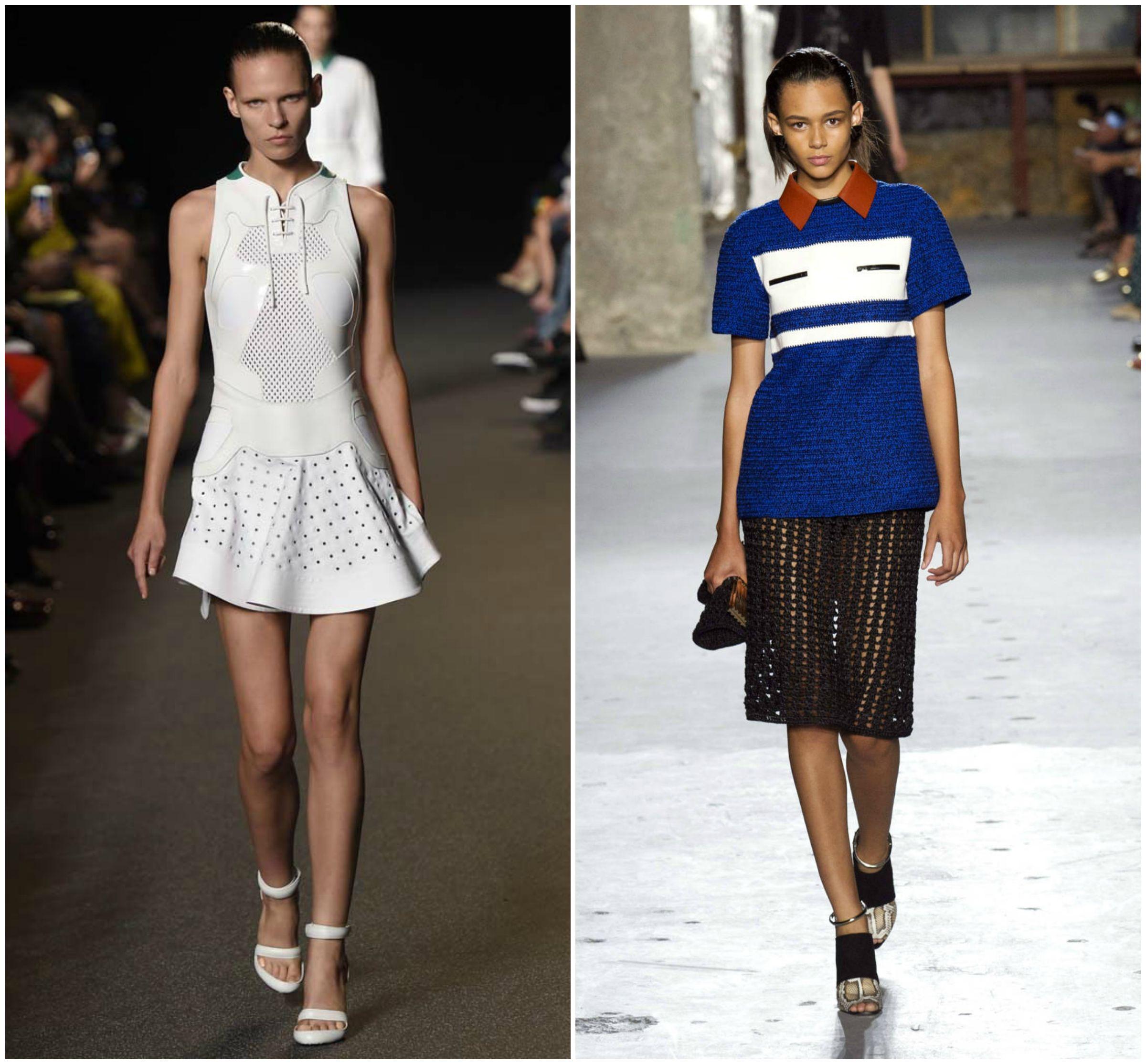sportswear sports white blue black heels collar