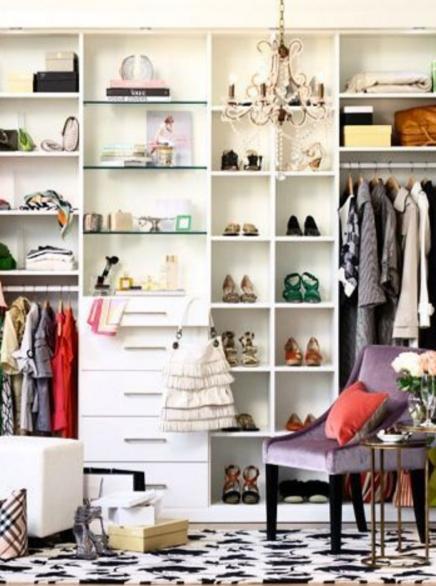 organizing shelves shoes