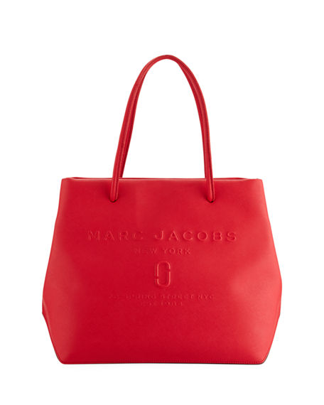 Marc Jacobs East-West Saffiano Leather Tote Bag - With a classic silhouette and a striking red color, this go-to bag makes a statement.