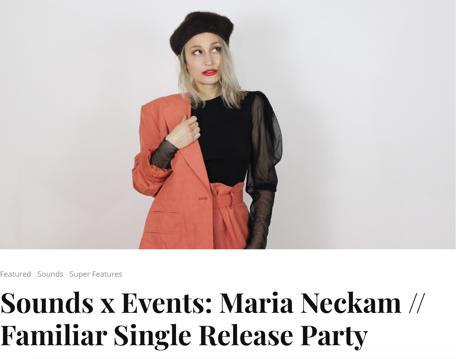 """Austrian-born, Dutch-educated, and Brooklyn-based jazz composer-turned-indie-pop soul crooner  Maria Neckam  is one of my favorite finds of recent memory. Equal parts bold and ethereal, she blends her classical training in jazz voice and composition with a fresh sensibility similar to singer-songwriters like Regina Spektor.""  Read the full article  HERE"