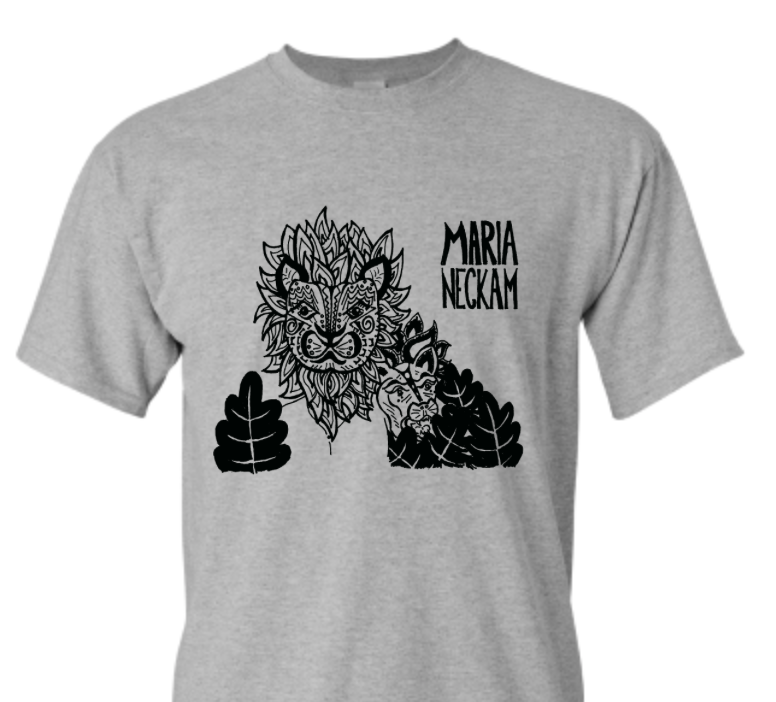 Maria Neckam Lion T-Shirt - $25Screen-printed in Brooklyn.Soft and comfortable, bound to be your new favorite T-Shirt!