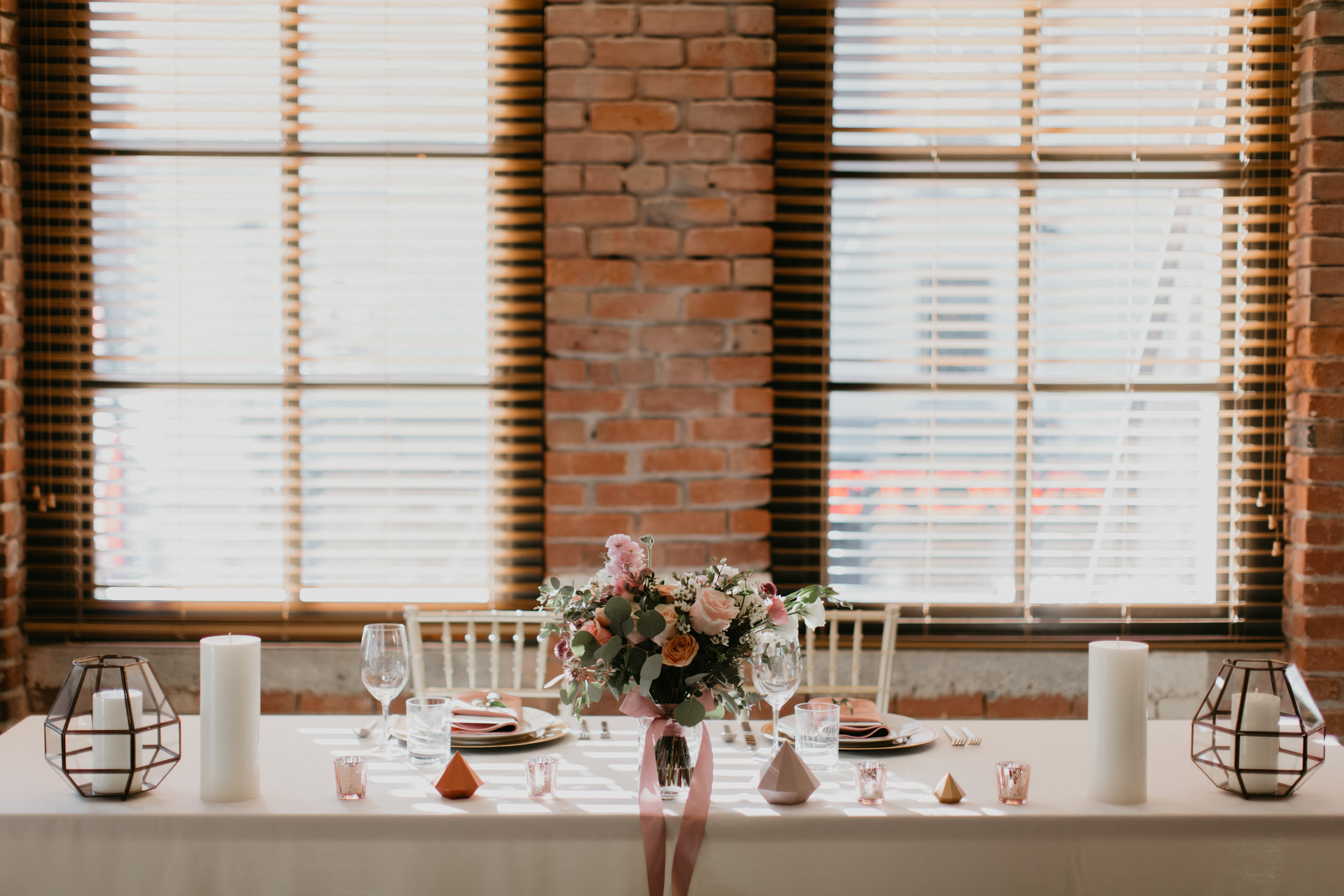 elegant classy wedding with blush and copper colours