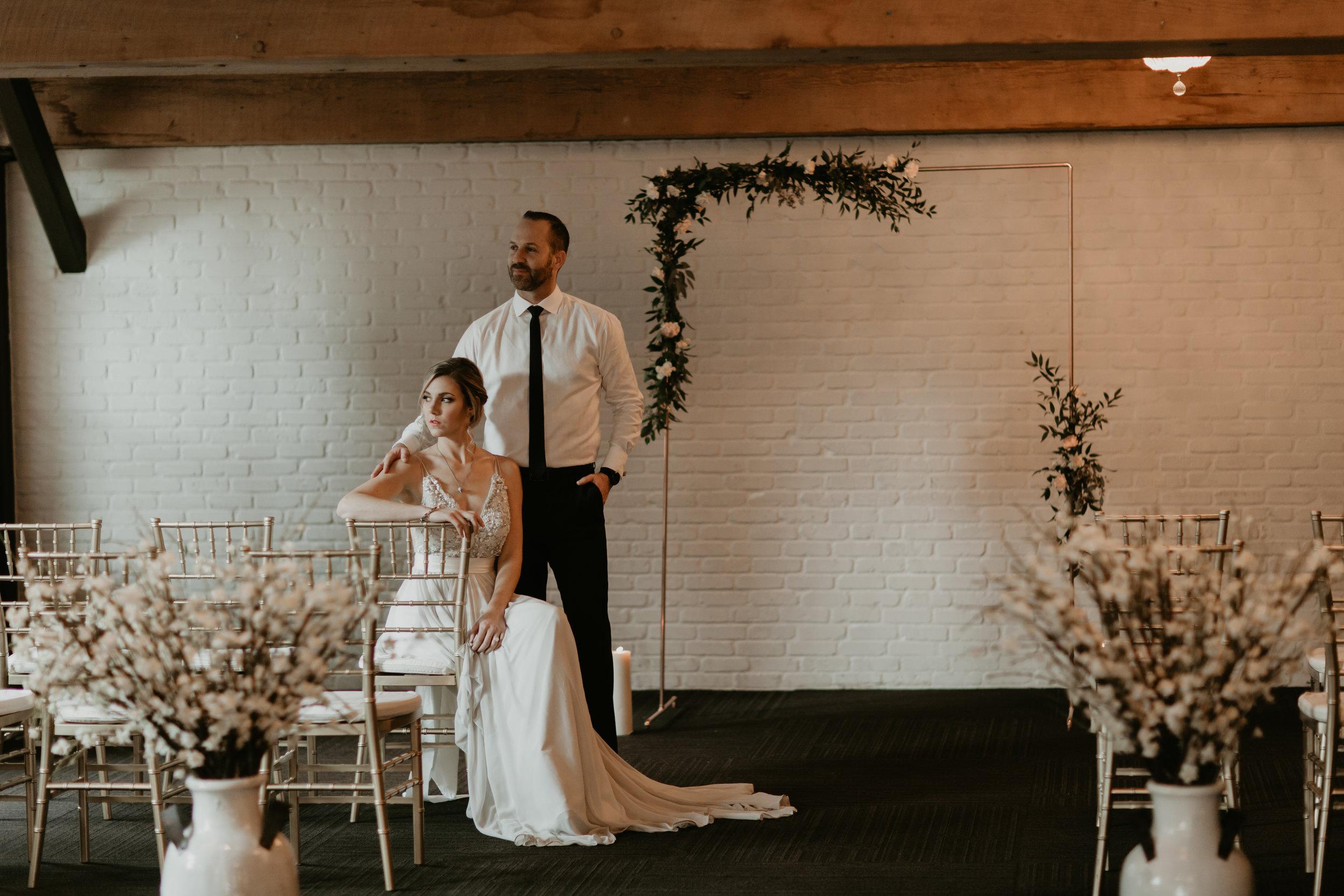 vancouver wedding couple portrait