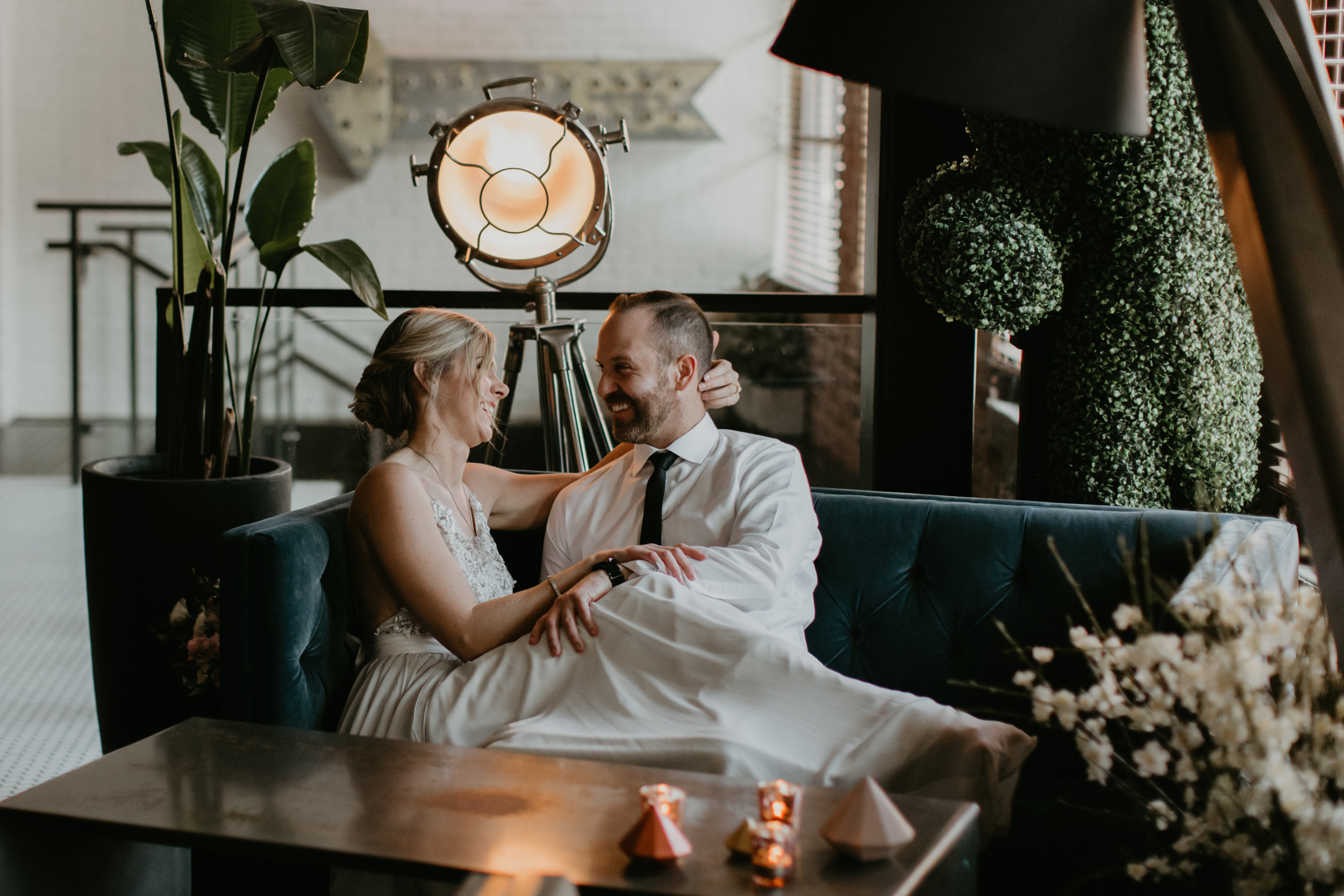 vancouver loft at earls wedding couple portrait
