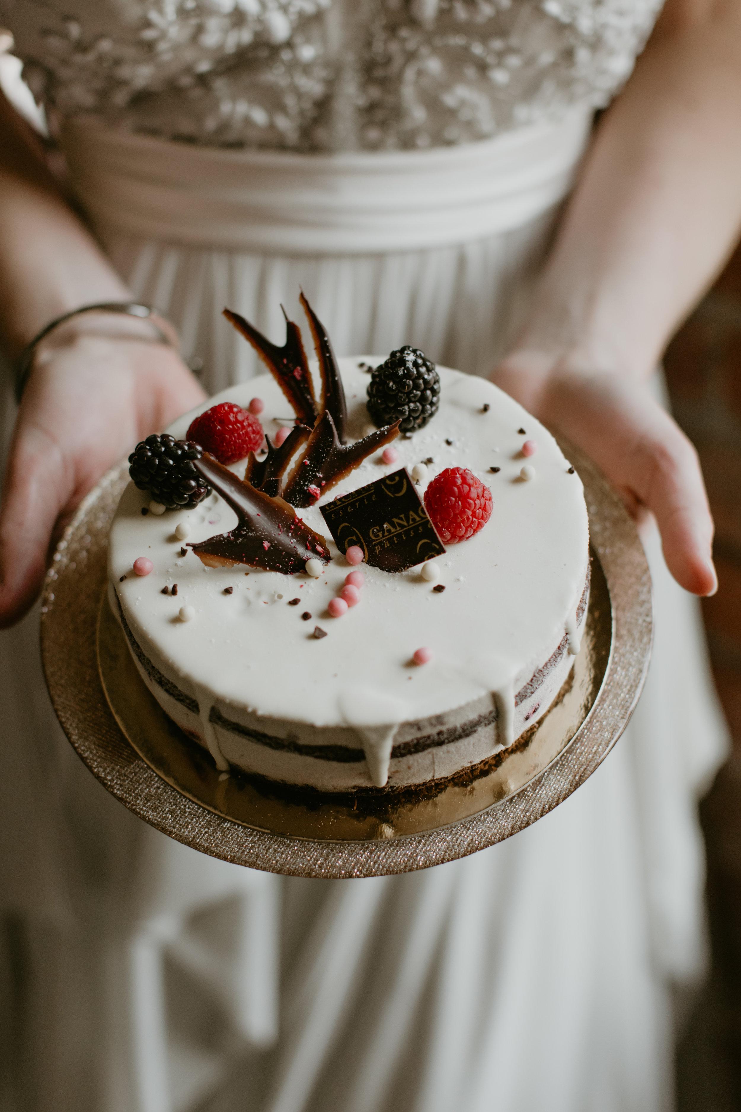 berry matcha wedding cake vancouver