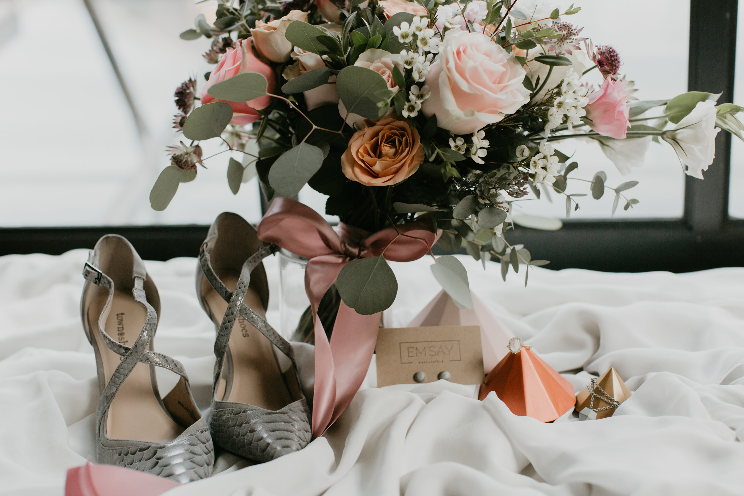copper blush wedding details