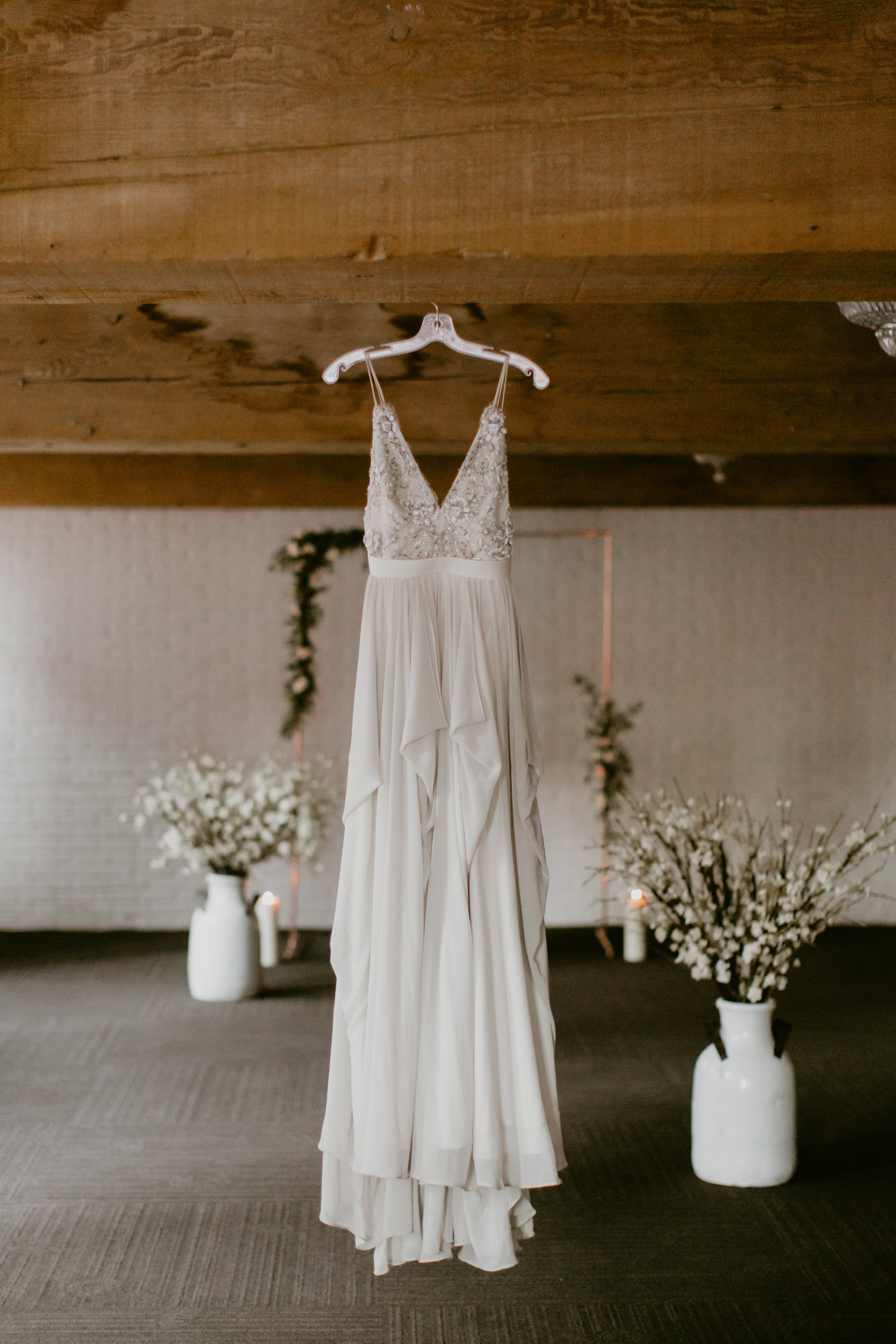 industrial chic wedding with truvelle alexandra gown