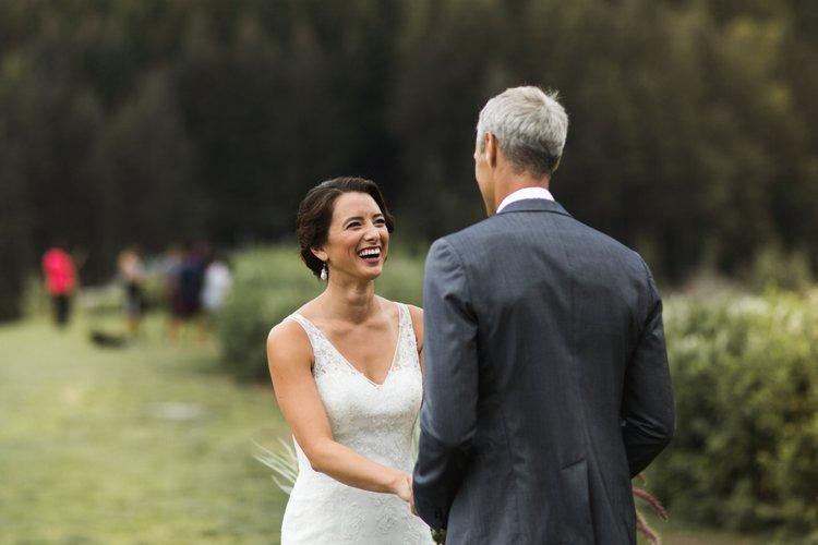 north vancouver cleveland dam outdoor wedding ceremony