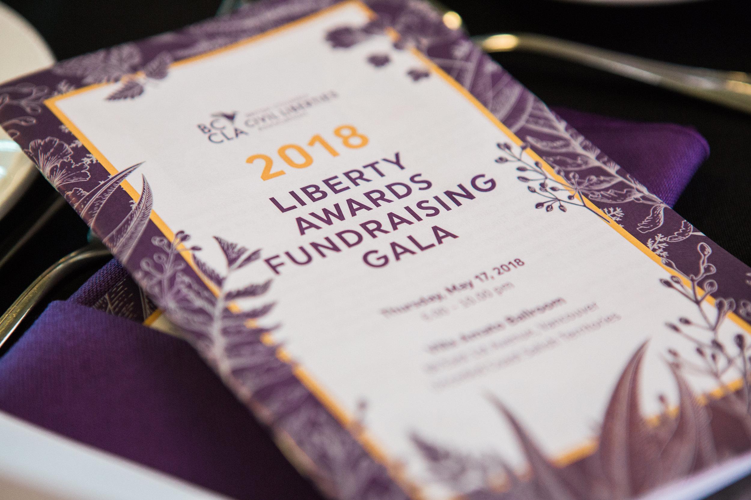 bccla liberty awards gala charity fundraiser vancouver
