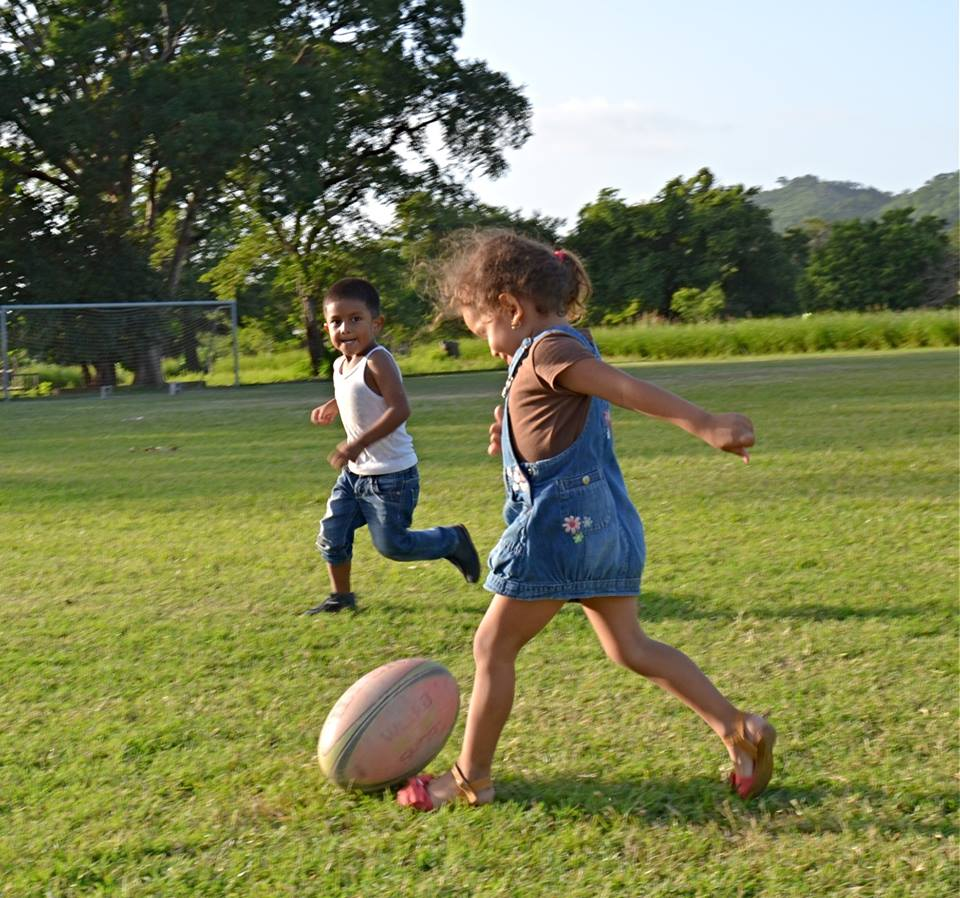 Rugby Juniors - At community rugby events or even weekly rugby training there is always a self-organised junior game. From watching their parents and family members play in the Tola Gallos team they have picked up new skills and new team mates.