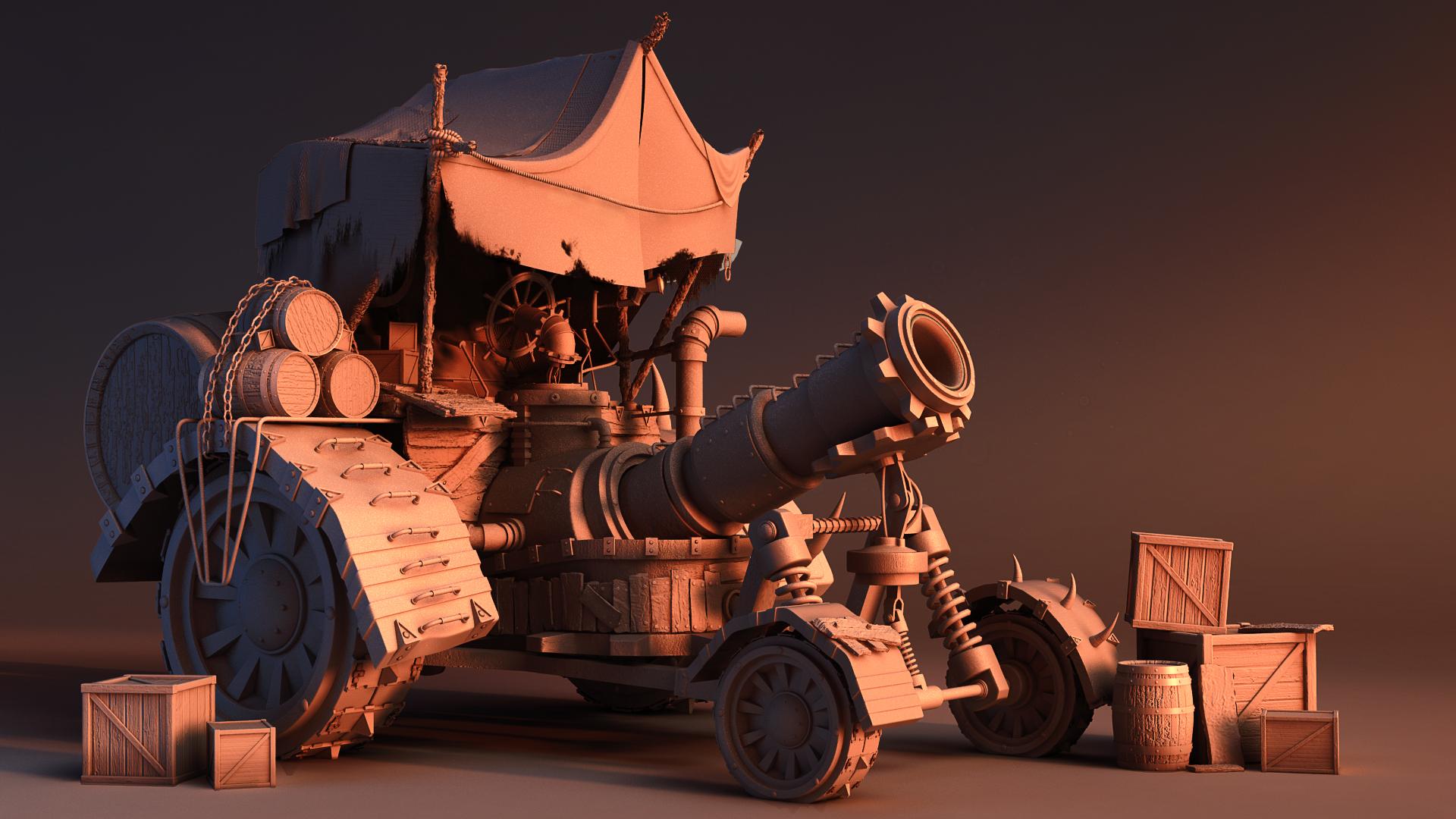 Makeshift cannon