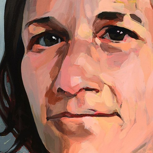 For the last month, I've been painting several pieces based on images of one of my oldest and closest friends. It's been such an interesting journey, spending hours examining and interpreting her face—which has been familiar to me for over 30 years—and experimenting with varying degrees of abstraction and interpretation. At times it's felt like an interesting blend of portrait and self-portrait, as I've projected my own thoughts and emotions onto the canvas. At others, just a real comfort to sit with the gaze of someone who knows and loves you. I definitely want to experiment more with this type of project.