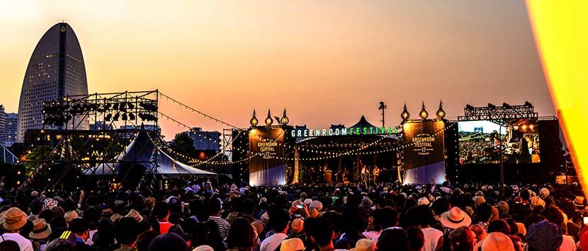 Main stage at twilight.