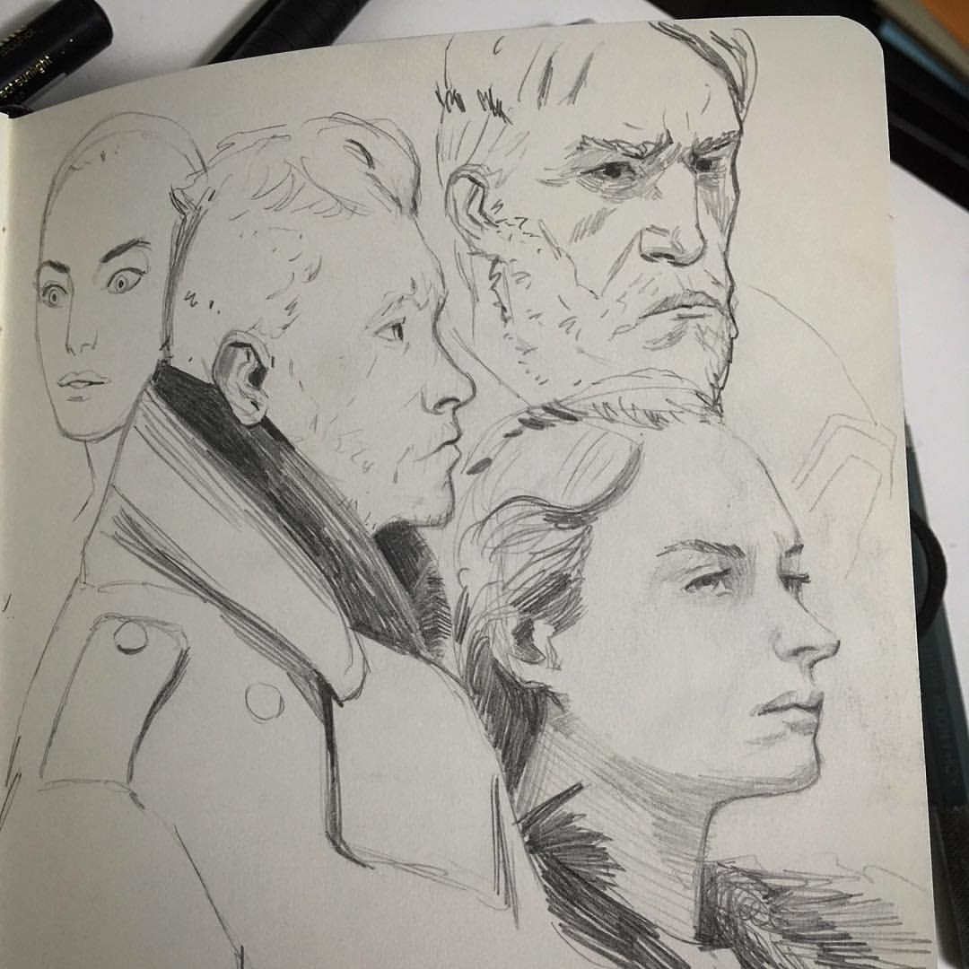 Warm up and break #sketches #instagram usually start the day this way and take little brakes to do one. Will post more often.  #drawings #folks #art #sketchaday #sketchbook #moleskine