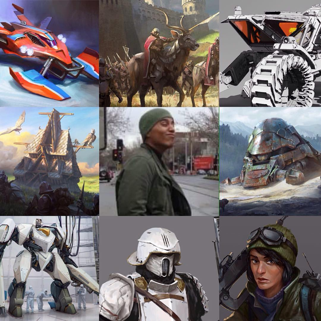 #ArtVsArtist Late on the bandwagon. Took a wrong turn got lost, long story.   #art #conceptart #instagram