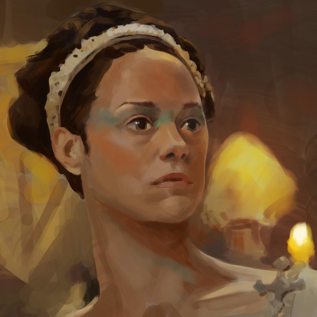#MaySketchaDay 17 warm up #study today. #Macbeth #ladymacbeth #filmstudy #art #shakespeare #colorstudy #colourstudy