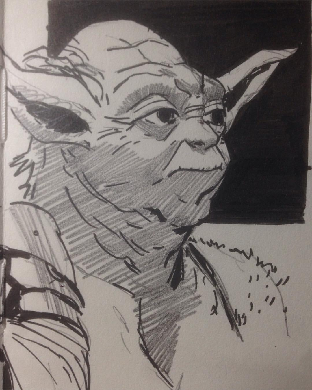 #Maythe4thbewithyou #MaySketchday 04 still enjoying the inks. Last pages of the moleskin and I didn't order new ones in time. So I'll have to put the moleskin sketches on hiatus. #artistproblems