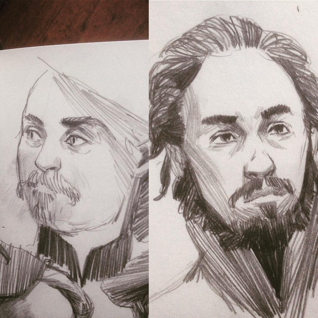 Some #warmups this week. It's been one of those weeks I can't get 2 decent #drawing in a row. #artistproblems #sketch #sketchbook #asketchaday #art #molskine