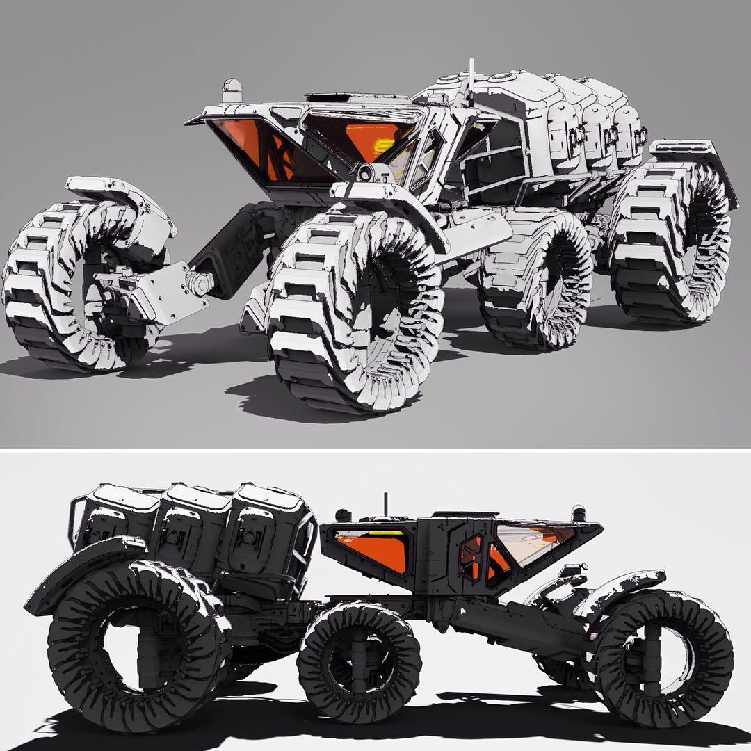 Mars Rover I made in #3dCoat for @jamajurabaev class at #LearnSquared. More shots on Art Station link in profile. #SciFi #Science #Rover #Nasa #ConceptArt #3d #KeepOnTrucking #keyshot #photoshop #MarsRover #ciencia #CienciaFicción #mech #art #cool #instagram