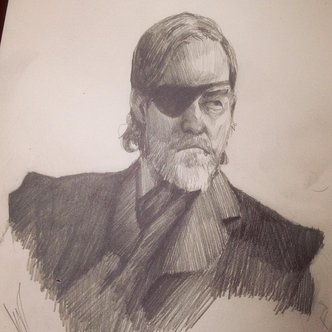 Warm up #jeffbridges my favourite in #TrueGrit  #studies #drawing #molskine #cowboys #rogerDeakins #coenbrothers #film #movie #study #sketches #asketchaday
