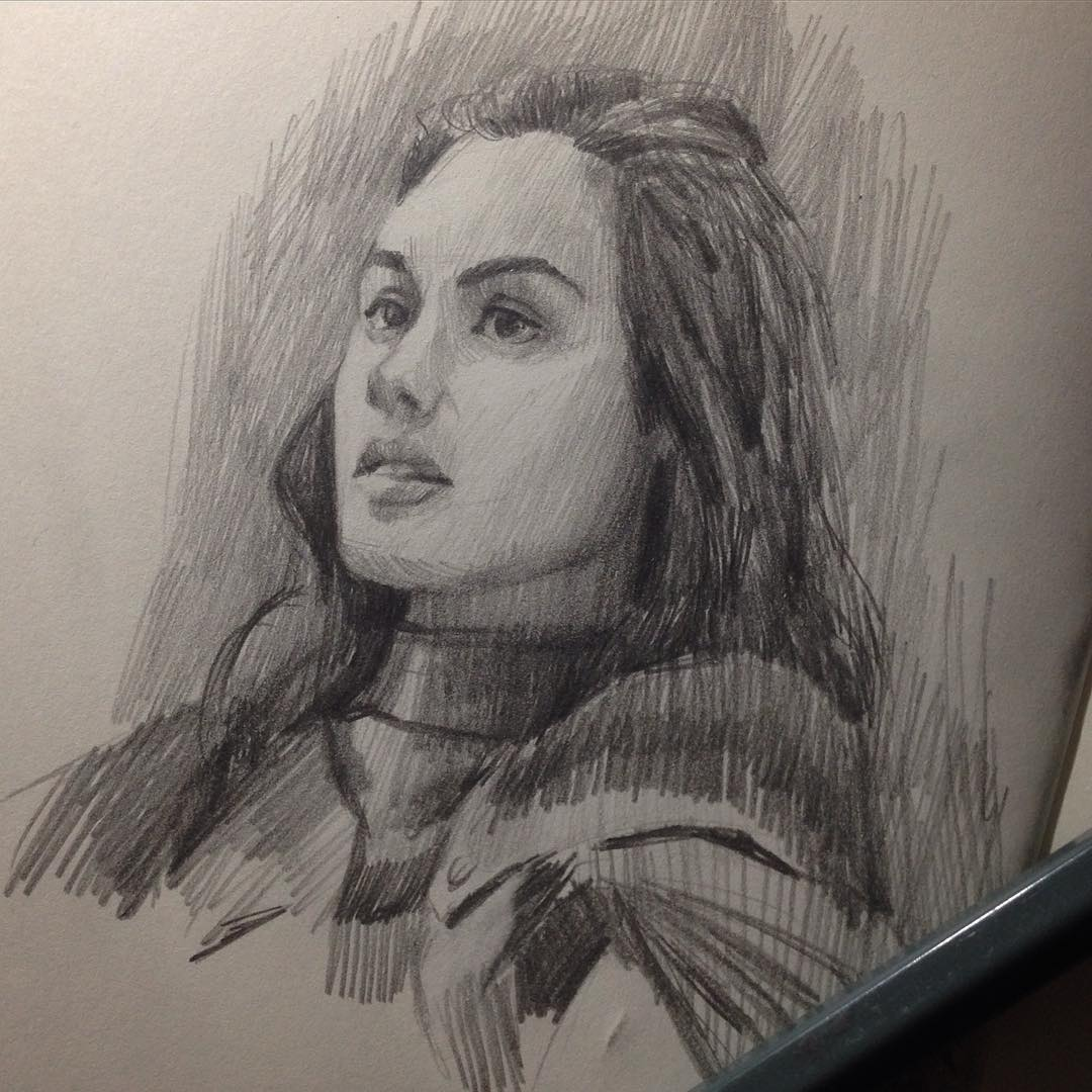 """Morning study I'm so out of it I have no idea what this TV show is? But the study is from """"the Shannara chronicles"""" #drawing #study #astudyaday #character #shannarachronicles #moleskine"""