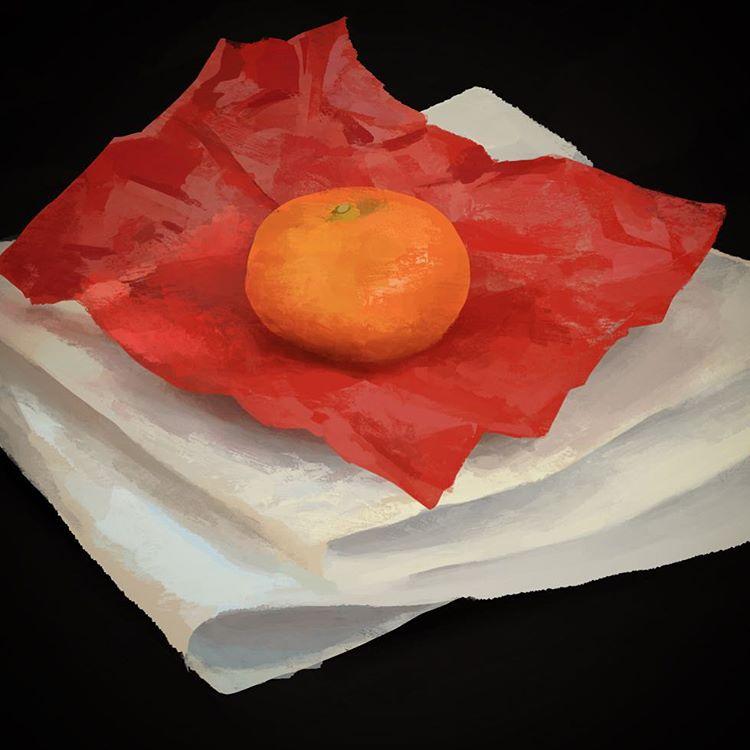 Lighting study #OrangeYouGlad #AStudyADay