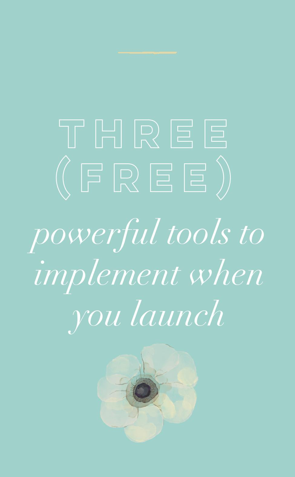 Three (Free) Powerful Tools to Implement When You Launch.jpg