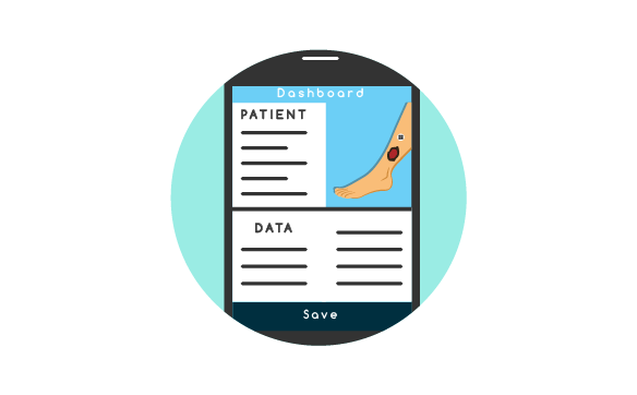 DataDoc - Store lesion images, extracted measurements, tissue classification and other relevant wound data to PixaMed's DataDoc. Use PixaMed on a mobile device as an easy data entry for text and voice-to-text documentation. Extract data with ease, via PDF document or spreadsheet. Learn more.
