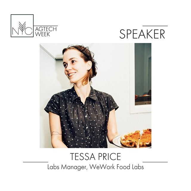 Tessa leads programming for @WeWork Food Labs, which she joined after a stint as program director for Pilotworks, the shared-kitchen startup that shut down in late 2018.  Tessa will share her knowledge at our Agtech x Urbantech mixer on 9/24 #nycagtechweek2019