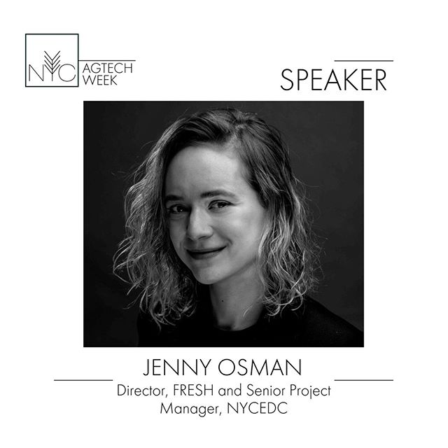 Jenny Osman is the director of the Food Retail Expansion to Support Health (FRESH) Program and a Senior Project Manager with the New York City Industrial Development Agency (NYCIDA) at the New York City Economic Development Corporation (NYCEDC). She will be speaking at the The Future of Green Urban Development: Opportunity Zones, CleanTech, Green Roofs, & Creative Mixed Use Projects Panel on 9/25 #nycagtechweek2019