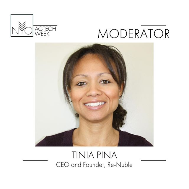 Tinia Pina is the Chief Executive Officer and Founder of @Re_Nuble  Inc., a waste-to-resource company headquartered in New York City. A strong advocate for sustainable waste management, regenerative agriculture, and urban resilience, she has been involved in management and business development roles within the sustainability industry for nine years. Tinia will moderate the Alternative Urban Farming Products: Algae, Hemp, Insects, Mushrooms, Fish  panel on 9/24 #nycagtechweek2019