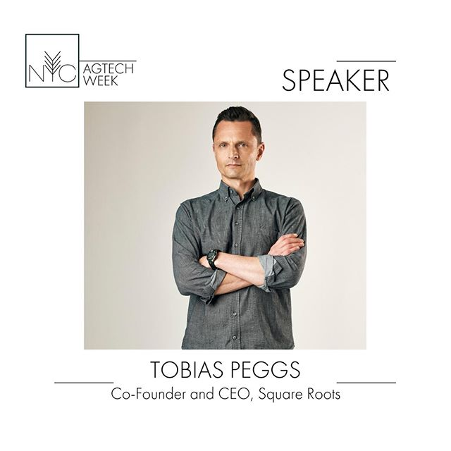 Tobias is co-founder and CEO of @SquareRootsgrow , a Brooklyn-based, tech-enabled urban farming company growing hyper-local, real food, year-round, while simultaneously training future generations of farmers using their proprietary 'farmer-first' technology platform. Catch Tobias at the Agtech x UrbanTech mixer on 9/24. Only a few days left for tickets! Link in bio: #nycagtechweek2019
