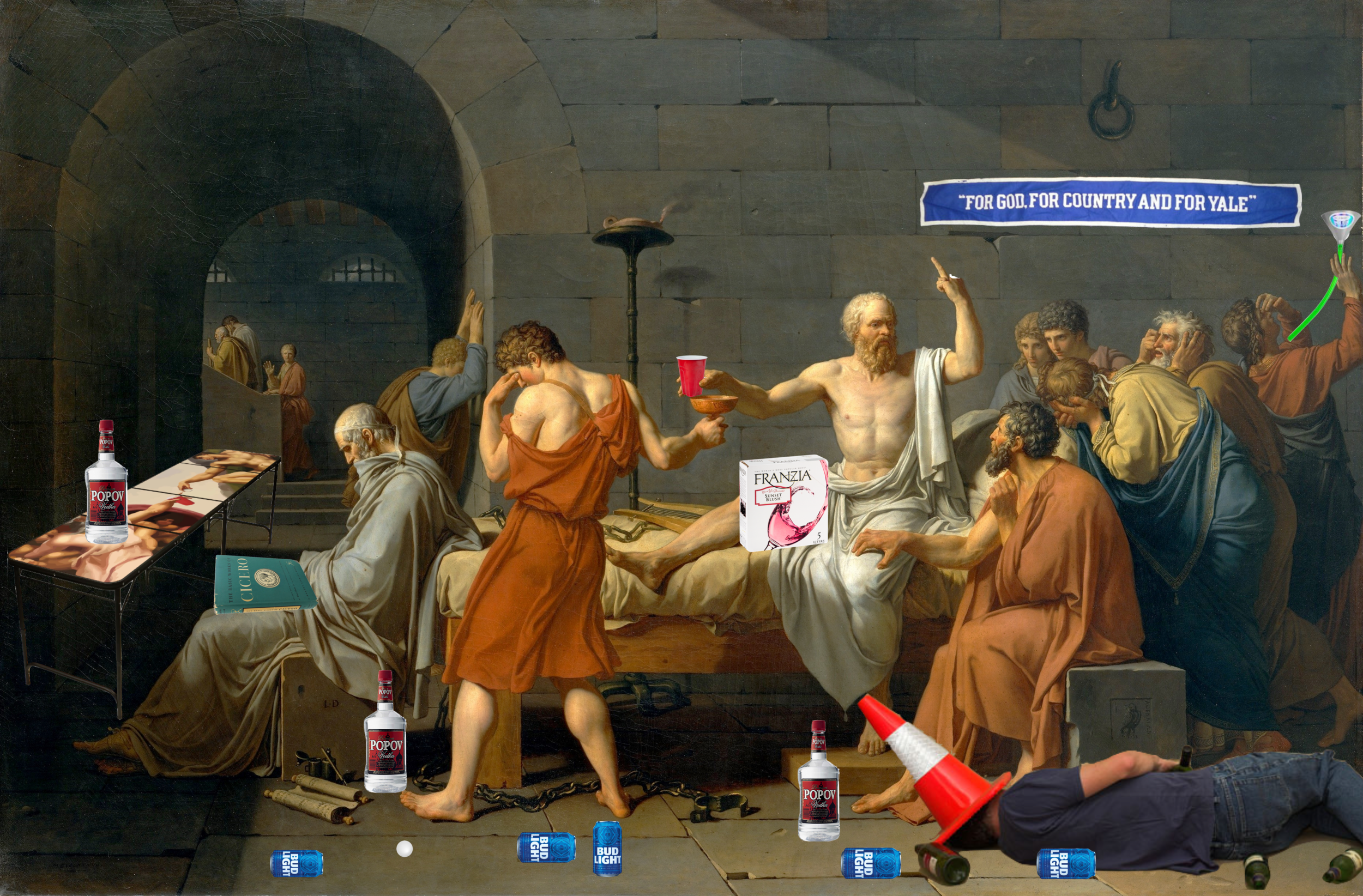 Henry Loughlin     The Death of DSocrates , 2017  Oil on Canvas