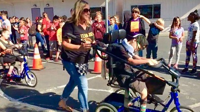 🏁The adaptive bike race was on at Donald Graham Elementary again this year! Cast A Shadow & Donald Graham Elementary hosted this years 4th annual student race & it was loads of fun! Check out the race day video - Vimeo link on profile page: https://vimeo.com/332991688  #cas #investinginlivesonandoffthebike #presson #forward #standtogether
