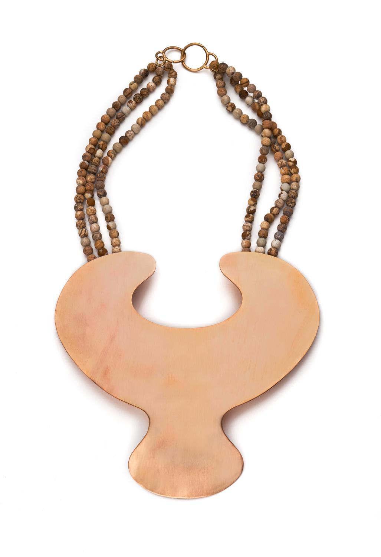'Eve'  Neckpiece   Gold Plated Brass, Jasper